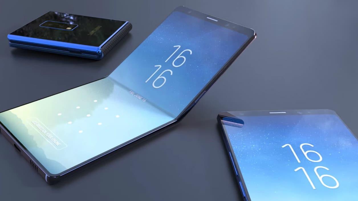Le télélphone pliable de Samsung